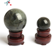 Good Luck Rare Natural Quartz Healing Crystal Ball Sphere Fengshui Figurine Miniatures Ornaments For Gifts Home Table Decor(China)