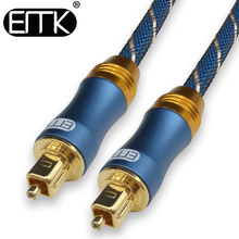 EMK 5.1 Digital Sound SPDIF Optical Cable Toslink Cable Fiber Optical Audio Cable with braided jacket 1m 2m 3m 10m 15m