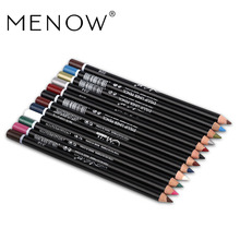 MENOW 12 Colors Eye Make Up Eyeliner Pencil Waterproof Eyebrow Beauty Pen Eye Liner Lip sticks Cosmetics Eyes Makeup(China)
