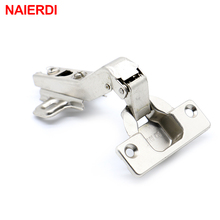 10PCS NAIERDI 45 Degree Corner Fold Cabinet Door Hinges 45 Angle Hinge Hardware For Home Kitchen Bathroom Cupboard With Screws(China)