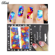 Bittb Nail Art Stickers Colorful Painting Design Fingernail Beauty Make Up Nail Tip Manicure Foil Makeup Tool Adhesive Decals