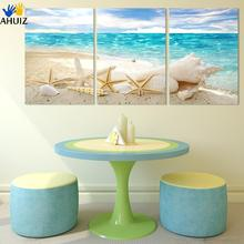 3 Pieces Of Wall Art Deco Seaview Sea Shells Modern Fashion Picture Print On Canvas Painting Paintings Home Decoration F175