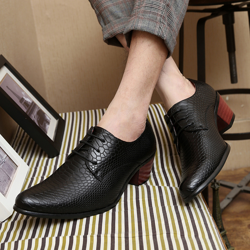 height increasing snake skin men shoes luxury brand italian formal leather male footwear pointed toe brogue oxford shoes for men (77)