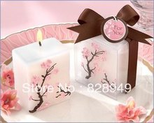 wedding Baby shower favors birthday gift--Cherry Blossom candle party decorations 100pcs/lot