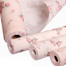 yazi 2PCS Vintage Pink Rose Plastic Shelf Drawer Liner DIY Dining Party Table Placemats 300x30cm