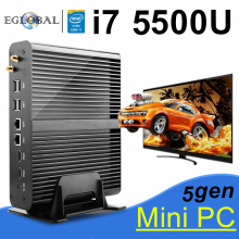 Barebone PC NUC Intel Core i7 5500U Graphics HD 5500 Fanless Mini PC Windows 2HDMI SD Card 4K HTPC Mini-Itx Micro PC