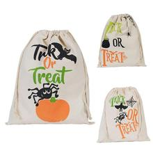 Spider Web Halloween Bag Pumpkin Trick Or Treat Bags Canvas Party Halloween Sacks Decors DIY Event Party Supplies Pouch case 2