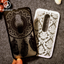 Akabeila Hollow Flower Phone Cases For Motorola Moto G3 G 3rd gen G+3 XT1540 XT1541 XT1542 XT1543 XT1544 XT1548