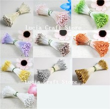 Lucia Crafts 288pcs/800pcs 18colors options double tips headers 1mm matte pearl flower stamen cake decoration 11020104(China)