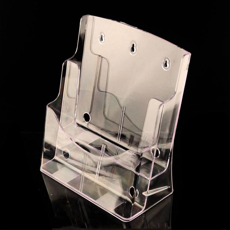 Wall Rack A4 Acrylic Data File Brochure  Display Stand 2 Layer Half-page Brochure Holder Book Data File Holder Display Rack<br>