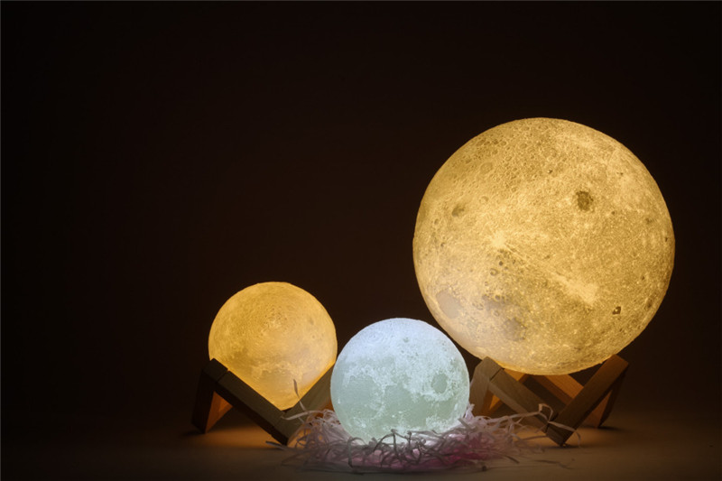 Chiclits LED Moon Lamp 3D USB Magical Moon Night Light 10CM Table Touch Sensor Color Changing Home Bedroom Decoraction Child Kid Girl Gift (5)