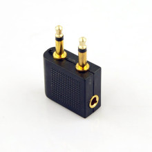 Hot Sales Stereo Earphone Converter Adapter for Airplane/On Plane airline adapter converts a regular headphone stereo