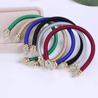 Luxury Summer Nail Mix Color Rhinestone Open Cuff Bracelet Hot Real Gold Plated Czech Charms Bracelets Simple Adjustable Bangles