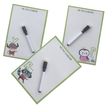 animal printed Dry Erase Flexible Fridge Magnets Whiteboard/Message board/Memo Pad/Dialog Box Magnet