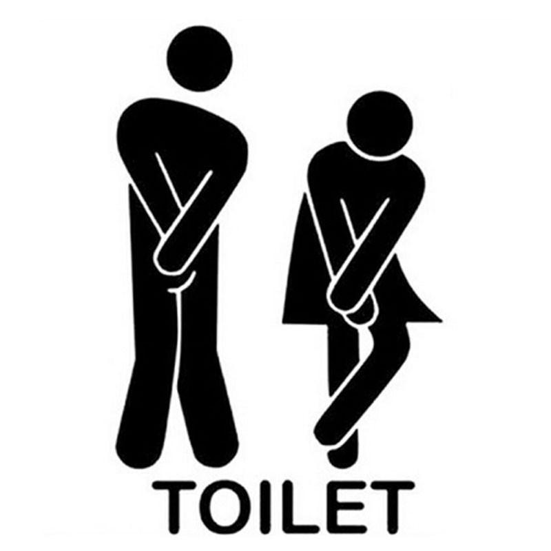 HTB1MIUmohrI8KJjy0Fpq6z5hVXaA - Cute Man Woman Washroom Door Toilet WC Sticker