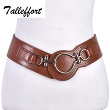 Fashion belt woman leather wide elastic belts for women dress(China)