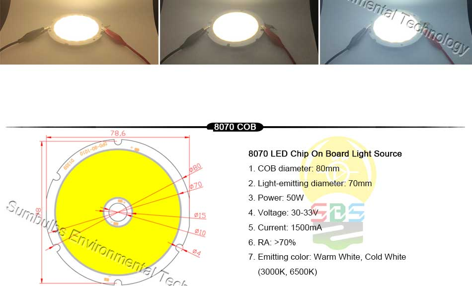 5W 10W 20W 30W 50W 200W Rounded COB LED Light Source Warm Natural Cold White Integrated Circular LED Chip On Board (10)