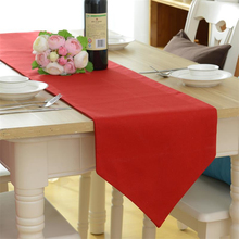 New Arrival simple red table runner cloth cotton wedding tea table cover home textile dustproof 2 kind hot sale