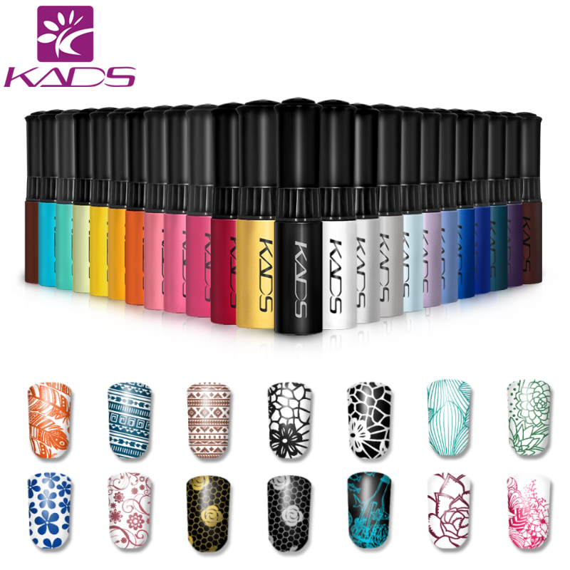 KADS Stamp polish 1 Bottle/LOT Nail Polish & stamp polish nail art pen 31 colors Optional 10g More engaging 4 Seasons(China (Mainland))