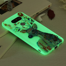 Luxury Luminous Printing White Clear Ultra Thin Case For LG G5 Soft TPU Noctilucent Night Flash Case Cover For LG G5 Accessories