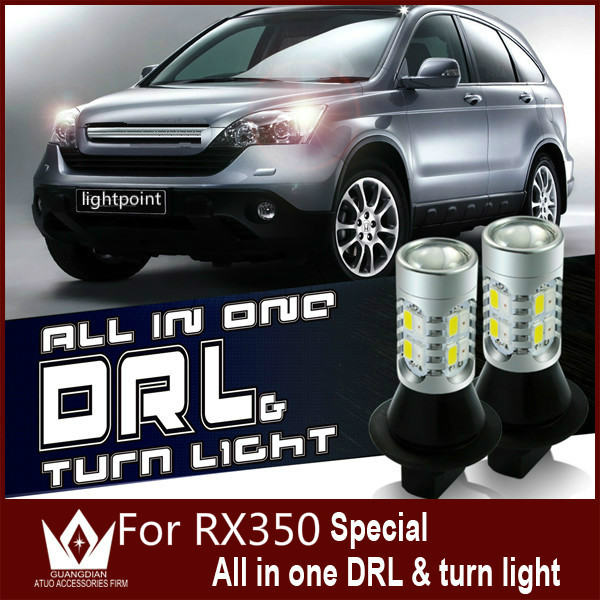 Guang Dian car led light daytime running light with turn signal light switch bulb drl high bright high power For RX350 LED<br><br>Aliexpress