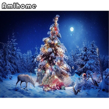 NEW Diy Diamond Painting Cross Stitch Christmas Tree Diamond Embroidery Masonry Diamond Mosaic Arts Crafts Needlework HC1671