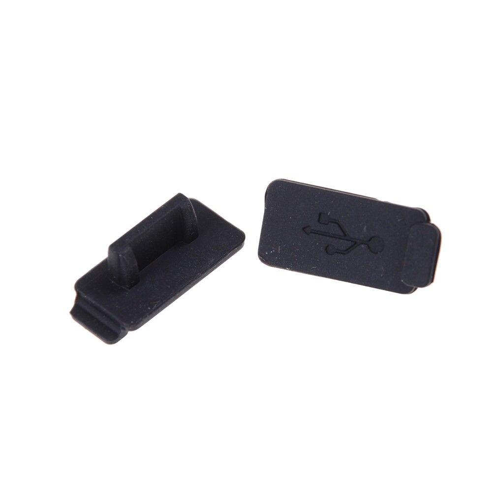 10pcs Black PC Laptop USB Plug Cover Stopper Rubber Soft Silicon Dust Cap To