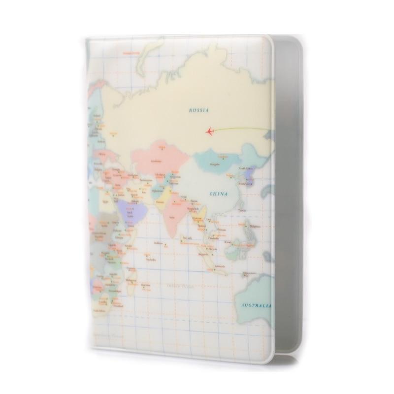 World Map Passport Holder.Kudian Bear World Map Passport Cover Of The Passport Wallet Female