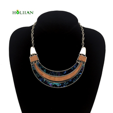 For women trendy wood bohemia necklaces&pendants black maxi chokers vintage boho collar costume jewellery chocker accessories(China)