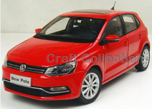 Red 1:18 Volkswagen New POLO 2014 Alloy Model Diecast Show Car Classic toys Scale Models