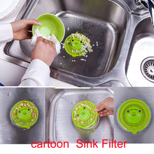 Cartoon Bathroom Shower Kitchen Drain Sink Strainer Filter Sink Drain Cover Waste Stopper Floor Drain Sink Strainer Prevent Clog