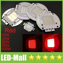 Super Bright LED Red Color COB Lamp Chip 10W 20W 30W 50W 100W Watts Floodlight AC110-240V Replace for led flood lights 620-625NM(China)
