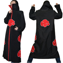 Halloween Coustume Hot Selling Naruto Cosplay Costume Naruto Akatsuki Uchiha Itachi Cosplay Cloak Hooded Plus Size (S-2XL) WA305(China)