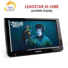LEADSTAR LD-1088 10.2 дюймов Мини-ТЕЛЕВИЗОР Портативный СВЕТОДИОДНЫЙ телевизор дисплей Встроенный в литиевая батарея Led TV Media Player 1080 P Hd-плеер LD1088