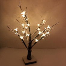 44cm Height Warm White 24  LEDS  outdoor led Cherry Flower tree light for Xmas  christmas Peach Flower tree lights decoration