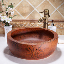Jingdezhen ceramic sanitary ware art counter basin wash basin lavabo sink Bathroom sink chinese ceramic basin sinks(China)