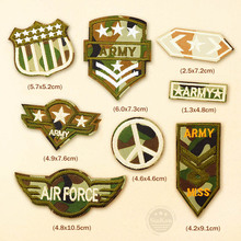 8pcs/lot U.S AIRFORCE ARMY Badges Iron On Patches Badge Embroidery Patch Applique Clothes Clothing Sewing Supplies Decorative