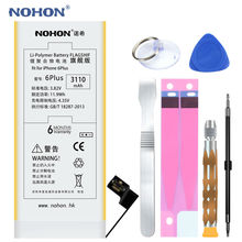 NOHON Battery 3110mAh For Apple iPhone 6 Plus 6P 6Plus High Real Capacity Built-in Phone Li-polymer Batteries With Tools+Package(China)
