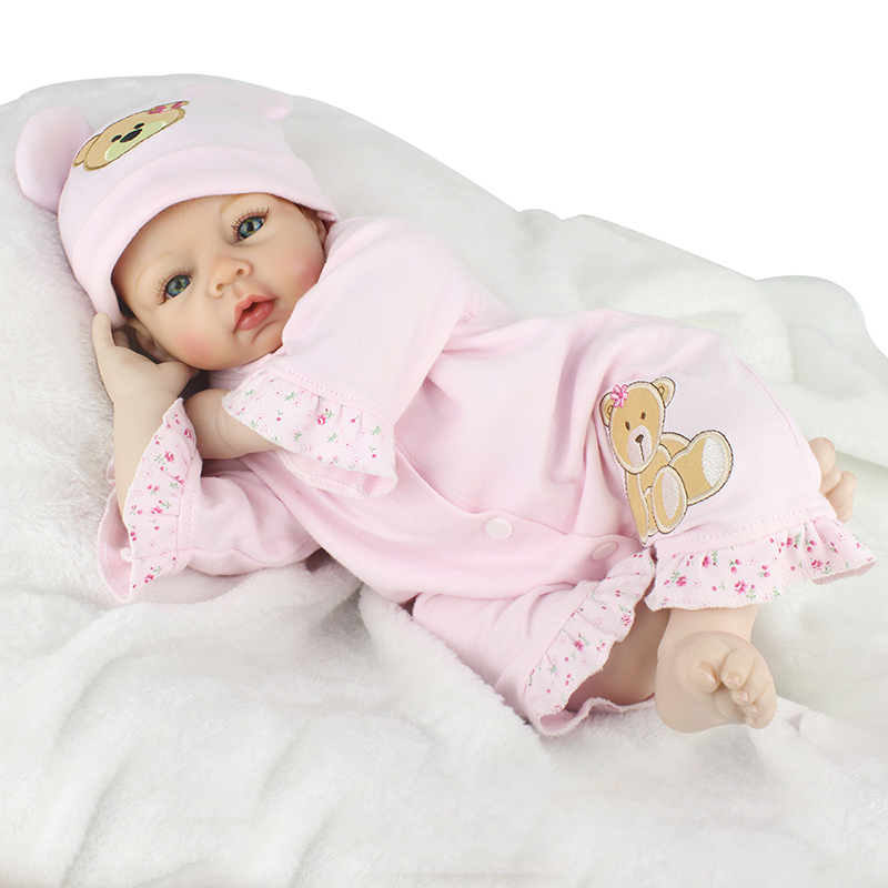 22inch Silicone Reborn Baby Dolls Toys Realistic Lifelike Reborn Babies Newborn Babies Dolls Brinquedos For Kids Christmas Gift <br><br>Aliexpress