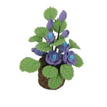 Miniature Blue Rose Flower Plant for Dollhouse Decoration Free Shipping