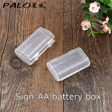 Hot Selling 2 Pcs Hard Plastic Case Cover Holder for AA AAA aa aaa Battery Storage Box(China)