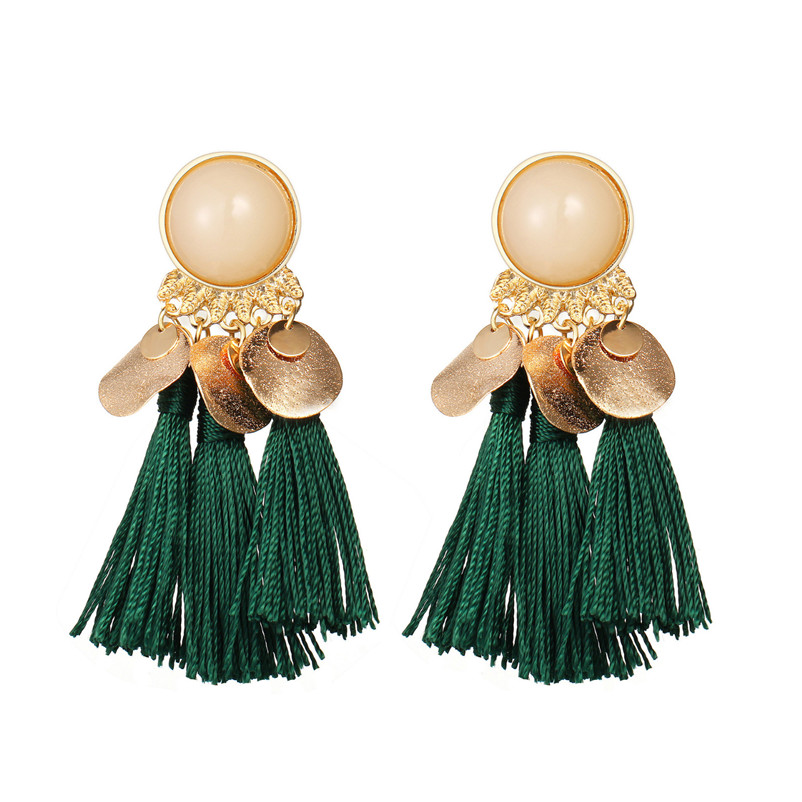 2018 Trendry Earrings for Women Bohemian Fashion Weave Tassel Earrings Long Drop Earrings Jewelry for gift Brincos J05#N (3)
