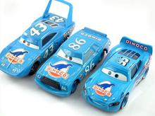 3Pcs Cars Pixar Dinoco Set 86 Chick Hicks King Diecast 1/55 Models Kids Toys Car Toys For Children Gift Lightning McQueen