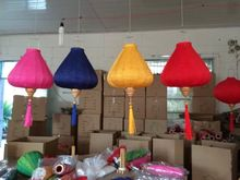 25pcs/lot 12 inch Outdoor/indoor Inverted Diamond Silk Lanterns Chinese New Year Holiday Mall Decorations Party Decor