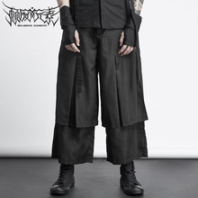 M-XXL ! Hip-hop tide men's skirt trousers men's summer hair stylist clothing Hong Kong style personality loose harem pants