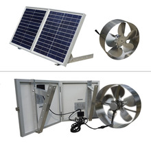 New 25W Solar Powered Attic Ventilator Gable Roof Vent Fan with 30W Foldable Solar Panel(China)