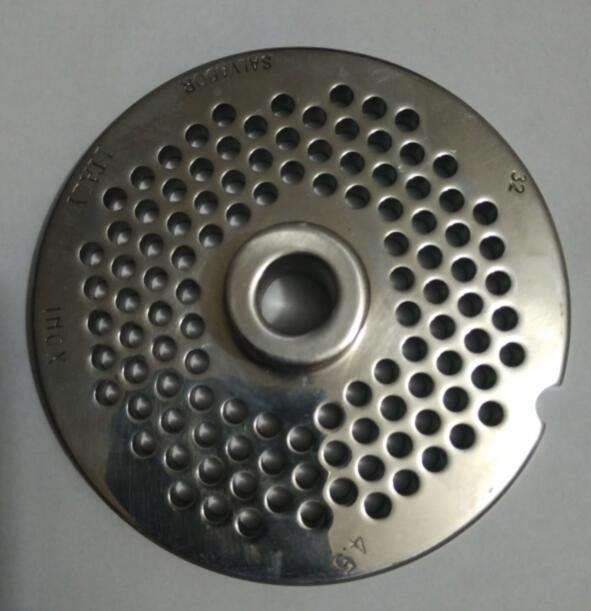 No.32 stainless steel meat grinder parts hole plate convex porous board 4.5mm hole 99mm diameter<br>