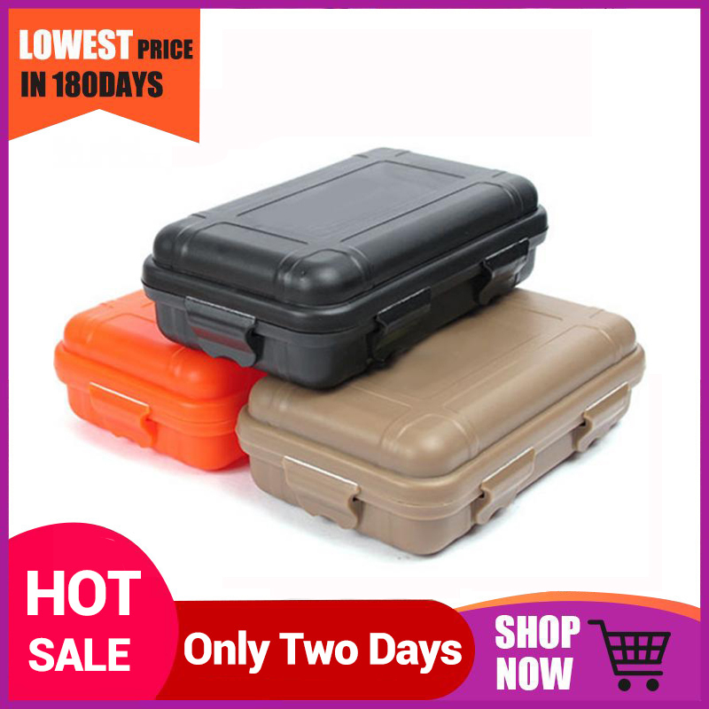 Outdoor Survival Container Storage Case Carrying Box Waterproof Shockproof