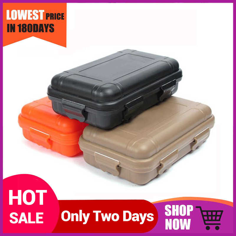 2 Sizes Outdoor Plastic Waterproof Airtight Survival Case Container Storage BOY