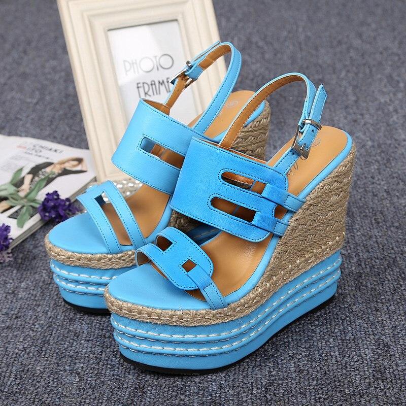 Spring/Summer High Heel Platform Wedges Sexy Straw Female Sandals 32 33 sy-1792<br><br>Aliexpress